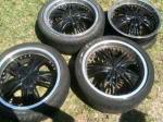18 inch black rims - $300 (wynnewood)