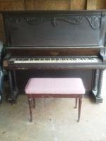 1912 Conrad upright piano and stool - $250 (Huntsville, Al.)