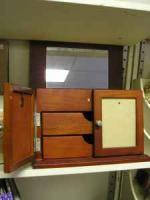 3 Jewelry Boxes w drawers, mirror & picture holder - $7 (Kalamazoo)