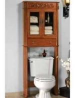 antique oak bathroom over the toilet cabinet 80 465 emerson ave