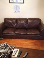Ashley Furniture Leather Couch - $275 (Chillicothe)