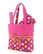 Colorful Quilted Polka Dots Diaper Bags - $20 (bakersfield)