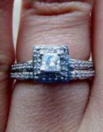 Diamond Bridal Set 1/2ct, Princess Center in 14k WG - $350 (Grand Junction)