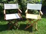 Director's chair wood & canvas nautical theme great 4 beach, boat, etc - $20 (Lake county, Ohio)