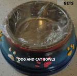 DOG BOWLS CAT BOWLS LARGE DOG CAGE - $5 (florence)