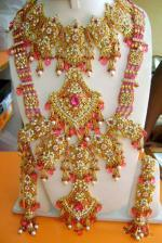 Exclusive Bracelets Rings Diamonds Kundan Bridal Set.16