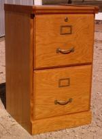 Filing Cabinet, 2 Drawer Solid Oak - $25 (Brighton)