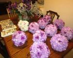 Floral Wedding Decorations - Purple and Brown - $60 (Warner Robins)