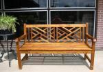 Gorgeous teak bench - fully assembled