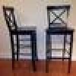 High top/bar chairs - matching set of 2 - $100 (Byers/Baker)