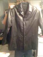 John Ashford leather jacket mens xl - $50 (Joplin) in Joplin
