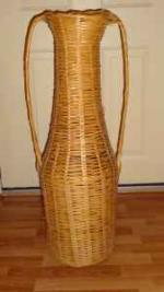 Large Wicker Decorative Vase - $15 (Hamburg, PA)