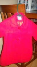 size 2 girls red dress coat - $10 (Houma)