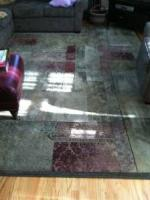 Transitional design area rug - $100 (Clifton Park)