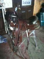 Western Saddle/Breast Plate/Bridle - $500 (Butler)